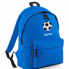Personalised FOOTBALL Rucksack Backpack Bag (BG125)